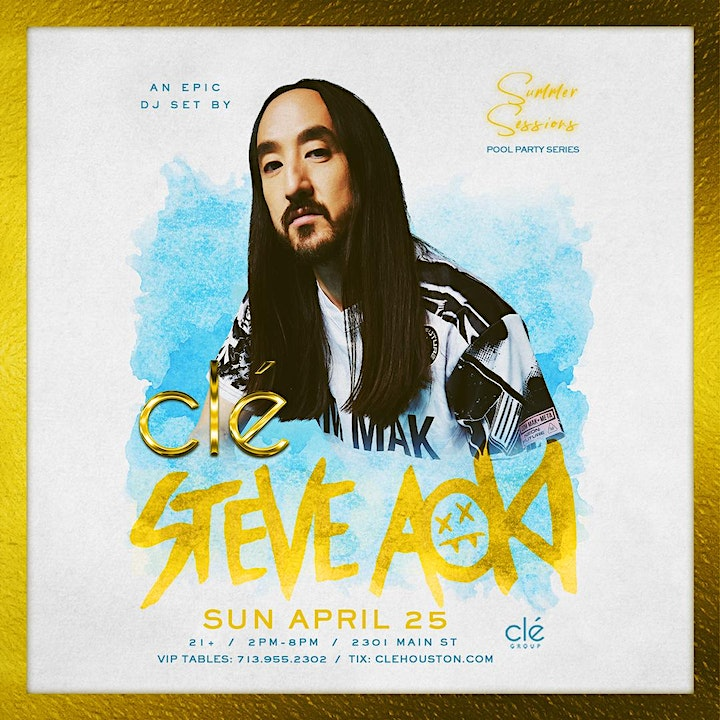 Steve Aoki / Sunday April 25th / Clé Summer Sessions image
