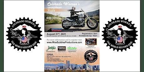 2021 COLORADO WOMAN'S USA WORLD RECORD RIDE ATTEMPT tickets