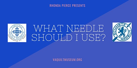 """What Needle Should I Use?"" A SCHMETZ Sponsored Event tickets"