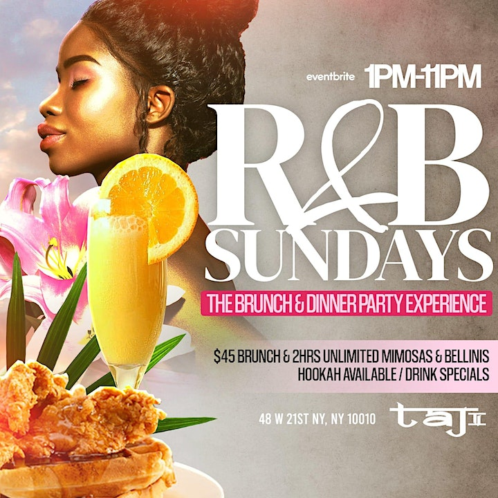 R & B Sundays Brunch & Dinner Party Experience | Unlimited Mimosa! image