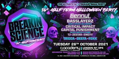 Breakin Science 16+ Halloween Half Term Party tickets