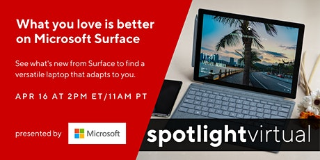 What you love is better on Microsoft Surface tickets