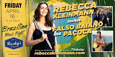 Brazilian Music Night! Rebecca Kleinmann invites Falso Baiano and Paçoca tickets