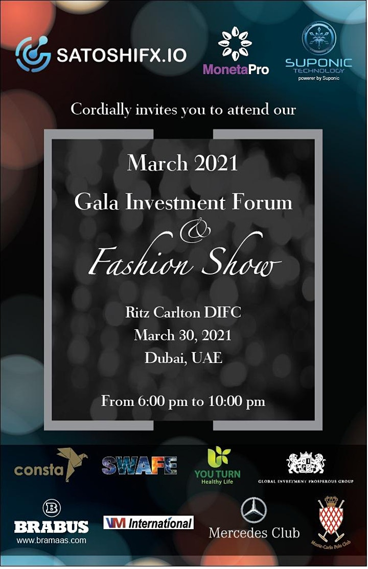 Gala Investment Forum and Fashion Show image