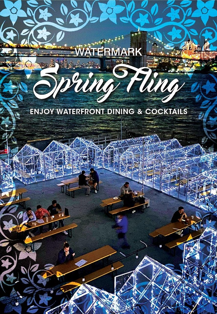 "TUESDAYS: ""NYC SPRING FLING"" ON THE PIER! ""GLASSHOUSES"" & OUTDOOR SEATING image"
