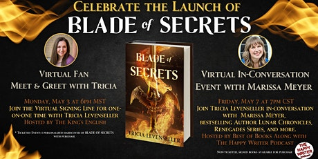 Blade of Secrets Launch with Tricia Levenseller & Marissa Meyer tickets
