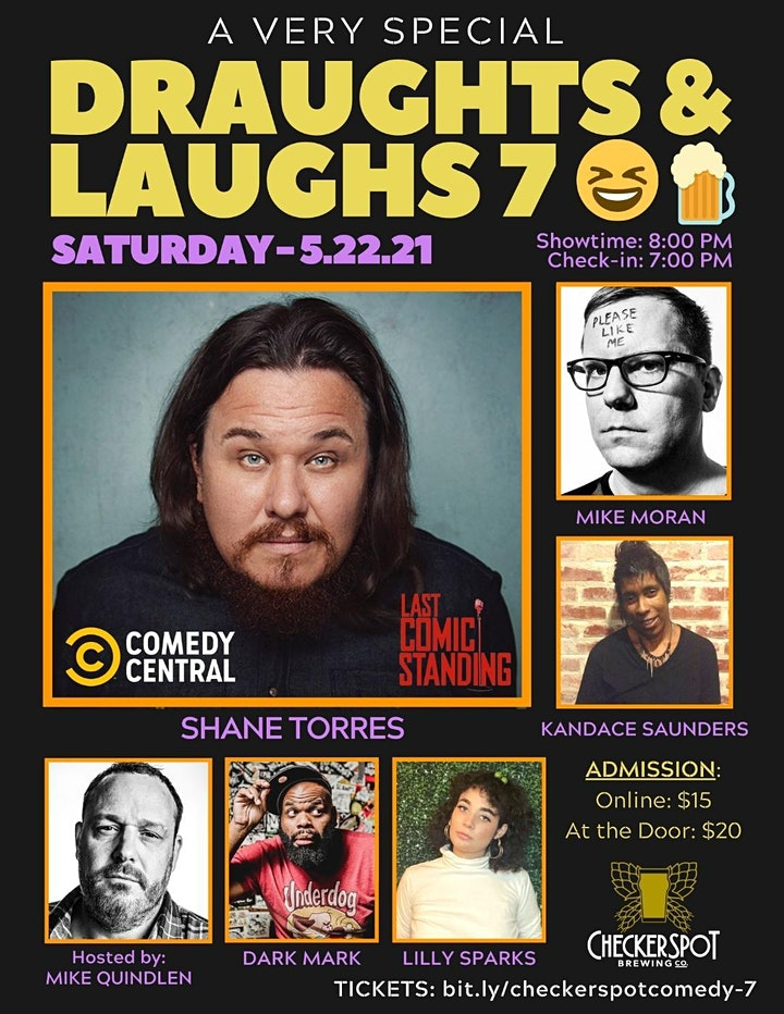 Draughts & Laughs -Special Event at Checkerspot Brewing Co. - Shane Torres image
