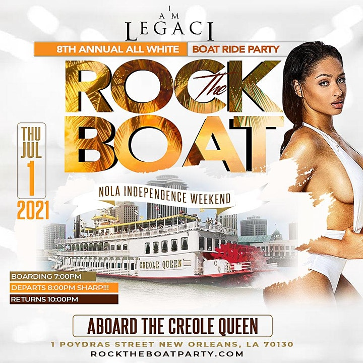 ROCK THE BOAT 2021 ALL WHITE BOAT RIDE PARTY | INDEPENDENCE DAY WEEKEND image