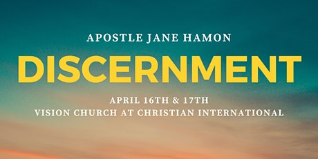 Discernment Workshop with Apostle Jane Hamon tickets