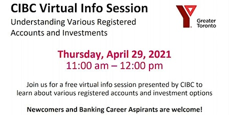 CIBC Session - Understanding Various Registered  Accounts and Investments tickets