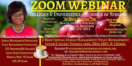 Stress Management/Staff Development Lunch and Learn tickets