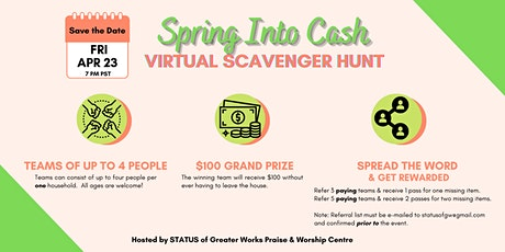 STATUS Virtual Scavenger Hunt ($100 prize) tickets