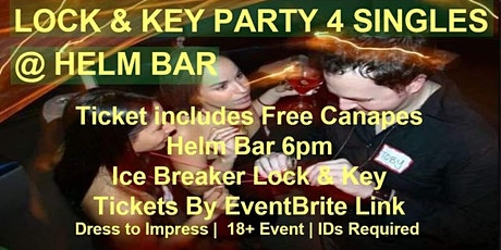 Lock & Key Party for Singles including Free Canapé tickets