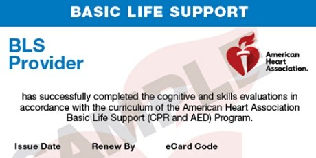 BLS FOR HEALTHCARE PROFESSIONALS (CPR) tickets