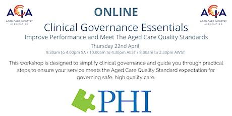 Clinical Governance Essentials tickets