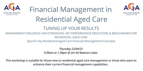 Financial Management in Residential Aged Care tickets
