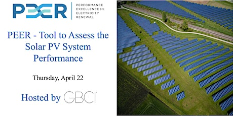 PEER - Tool to Assess the Solar PV System Performance tickets
