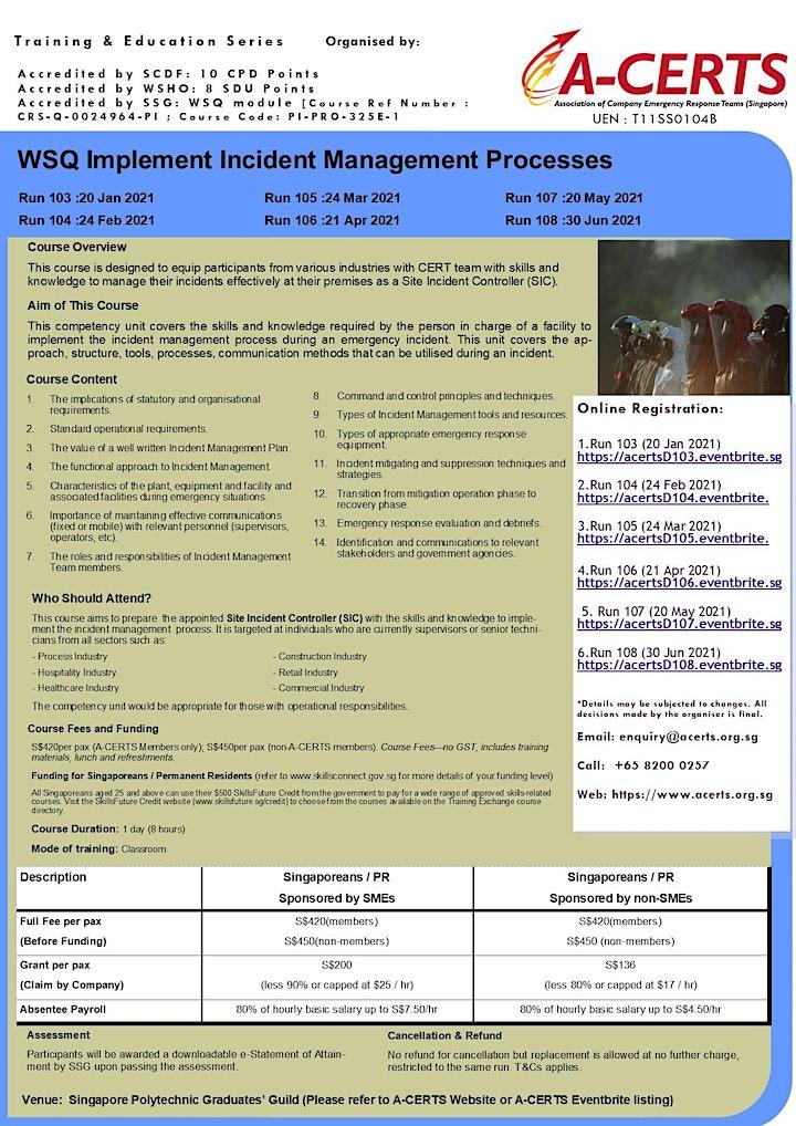 A-CERTS Training:WSQ Implement Incident Management Processes Run 107 image
