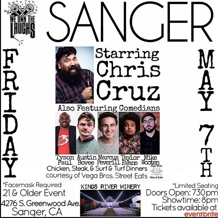 We Own The Laughs: Sanger (Starring Chris Cruz) image