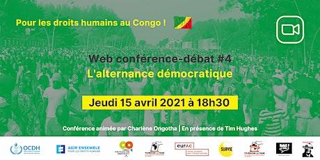 Congo : l'alternance démocratique  - web conférence-débat #4 billets