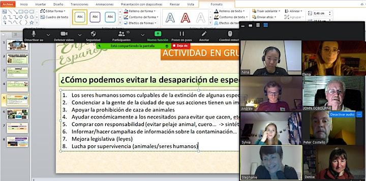 Spanish conversation group image