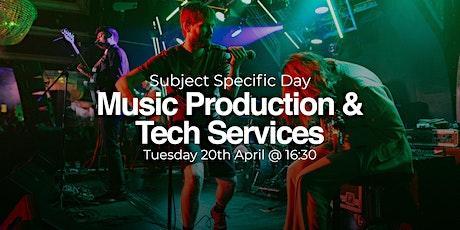 ACM Subject Specific Open Day:  Music Production & Tech Services biglietti