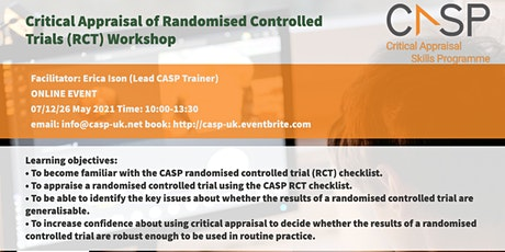 Virtual CASP Workshop - Critical Appraisal of Randomised Controlled Trials tickets