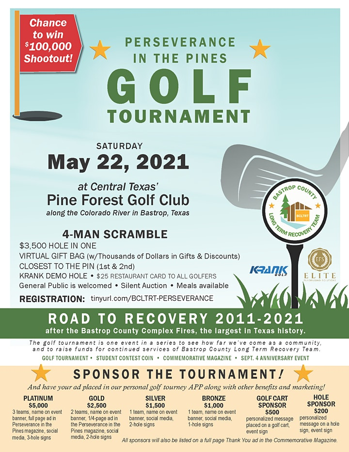 Perseverance in the Pines - Golf Tournament image