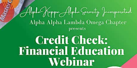 Credit Check: Financial Education Webinar tickets
