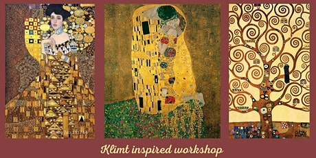 Klimt Inspired Art Workshop - Acrylics and Goldleaf on Canvas tickets
