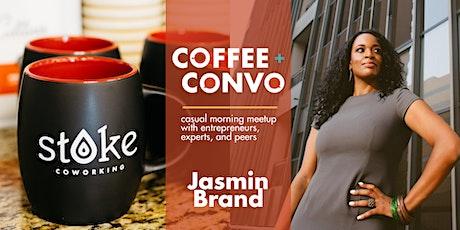 Coffee + Convo with Jasmin Brand - Virtual tickets