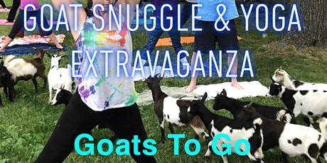 Baby Goat Snuggle, Yoga, & Live Music Extravaganza tickets