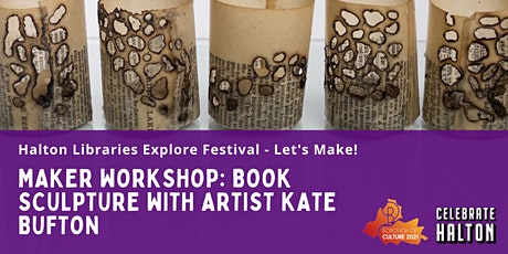 Maker Workshop: Book Sculpture with artist Kate Bufton tickets