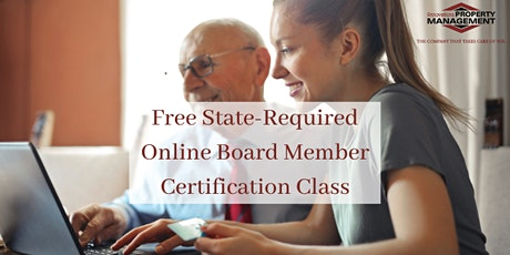 Free Online State-Required Board Member Certification Class tickets