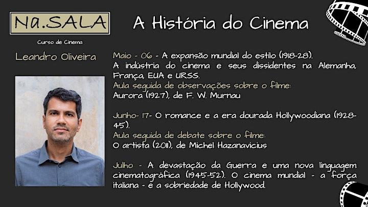 """Imagem do evento Na.SALA - Curso """"A História do Cinema"""" com Leandro Oliveira."""