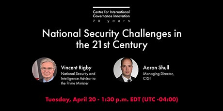 National Security Challenges in the 21st Century tickets
