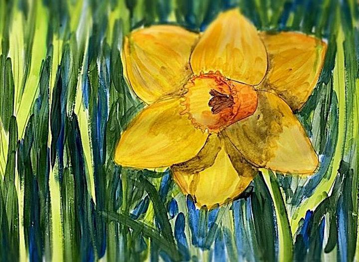 Spring Daffodil - Art Class image