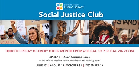 GCPL'S Social Justice Club: A Bimonthly Social Issues Discussion Club tickets