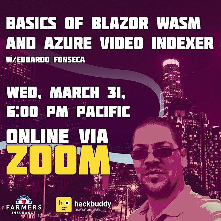 Basics of Blazor WASM and Azure Video Indexer with Eduardo Fonseca image