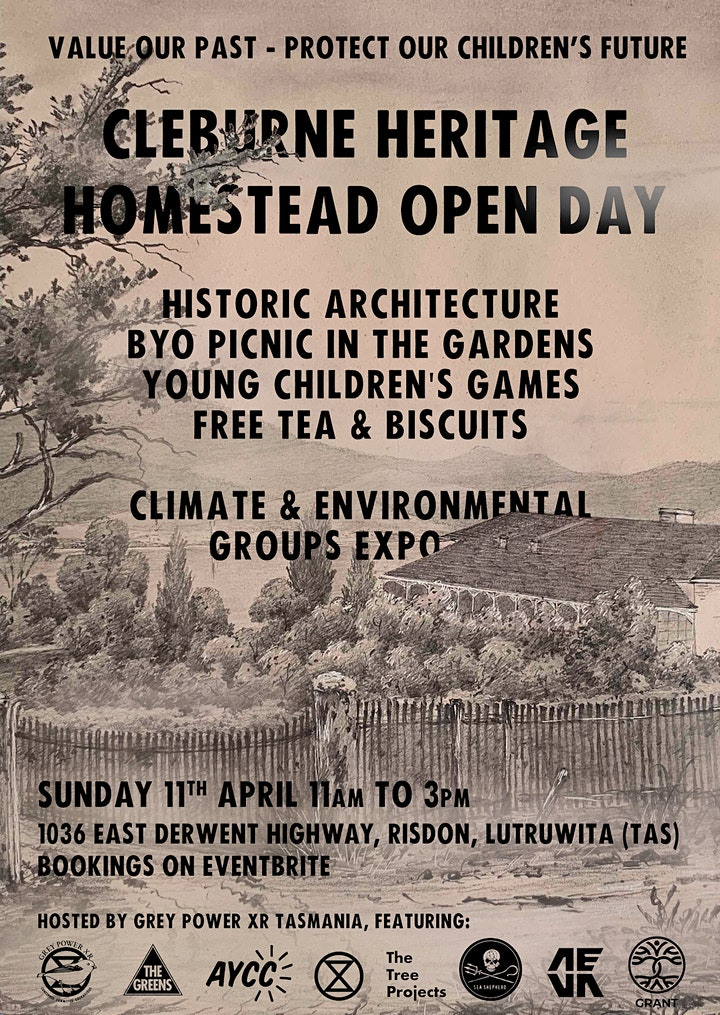 Cleburne Historic Homestead Open Day - Climate & Environmental Groups Expo image