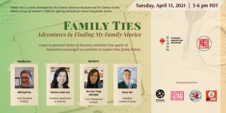 Family Ties: Adventures in Finding My Family Stories tickets