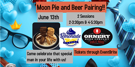 Moon Pie and Beer Pairing!  4-5:30pm session tickets