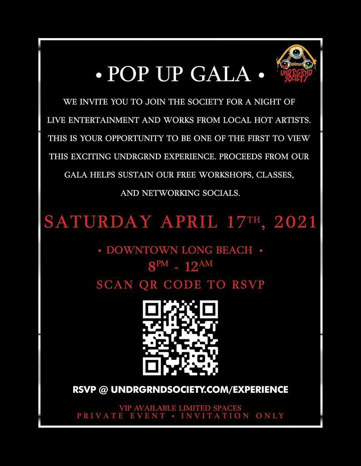 THE UNDRGND SOCIETY PRESENTS : POP UP GALA image