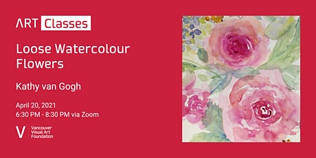 Loose Watercolour Flowers Art Class tickets