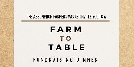 Farm To Table Fundraising Dinner tickets