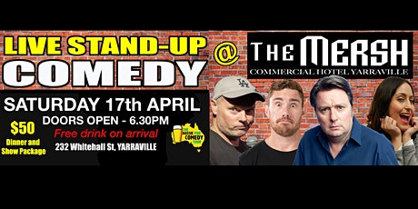 LIVE STAND-UP COMEDY @ THE MERSH / DINNER & SHOW tickets