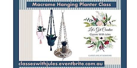 Macrame Hanging Pot/Shelf Class tickets