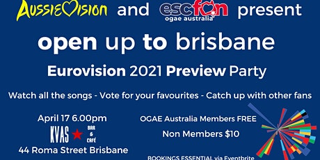 Aussievision x OGAE Australia Brisbane 2021 Eurovision Preview Party tickets