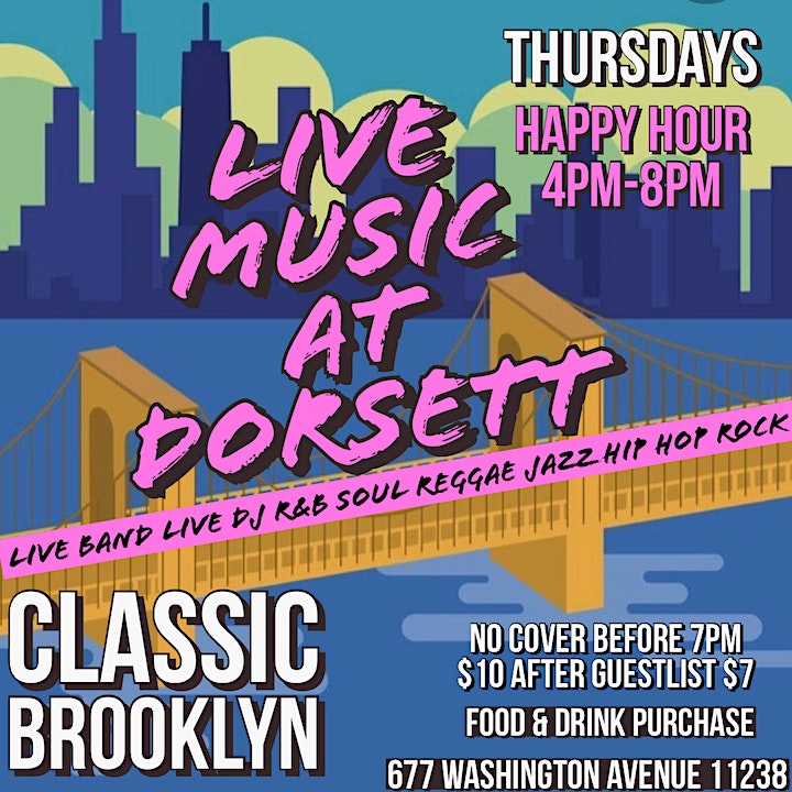 THURSDAY LIVE MUSIC AT DORSETT! No Cover Food n Drink Purchase! image