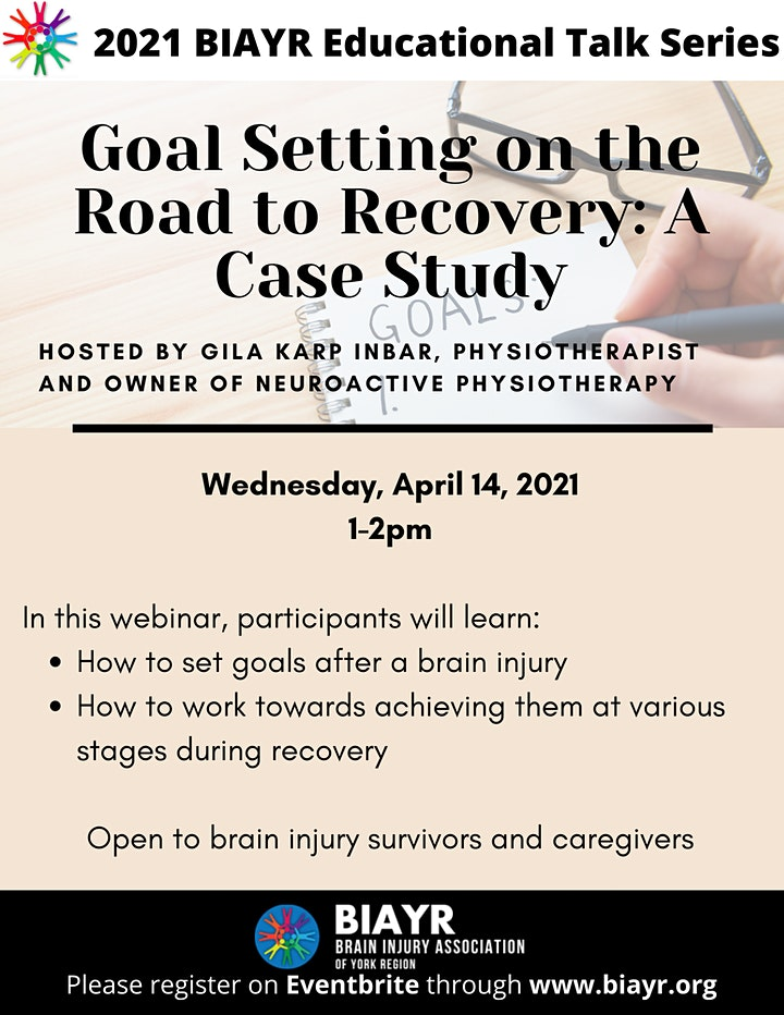 Goal Setting on the Road to Recovery - 2021 BIAYR Educational Talk Series image